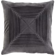 "Surya Akira Pillow Cover, 22""H x 22""W x 4""D, Charcoal (AKA004-2222)"