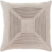 "Surya Akira Pillow Kit, 22""H x 22""W x 4""D, Beige (AKA006-2222D)"