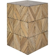 Surya Cane Garden 12.9 x 12.9 x 19.6 Accent Table, Brown (CGN002-121219)