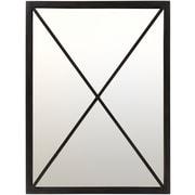 "Surya Franklin FRA-001 30"" x 40"" Black Mirror (FRA001-3040)"