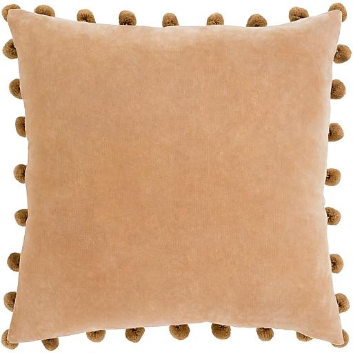 "Surya Serengeti Pillow Cover, 20""H x 20""W x 4""D, Camel (SGI001-2020)"