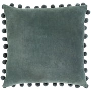 "Surya Serengeti Pillow Kit, 20""H x 20""W x 4""D, Charcoal, Teal (SGI002-2020D)"