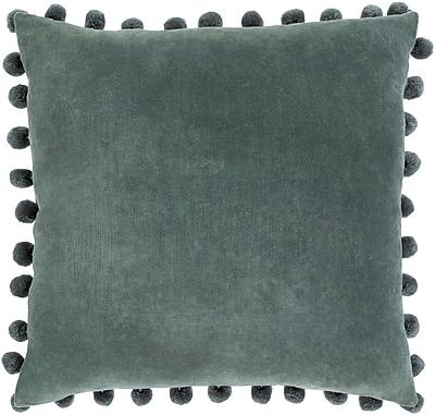"Surya Serengeti Pillow Kit, 20""H x 20""W x 4""D, Charcoal, Teal (SGI002-2020D)"