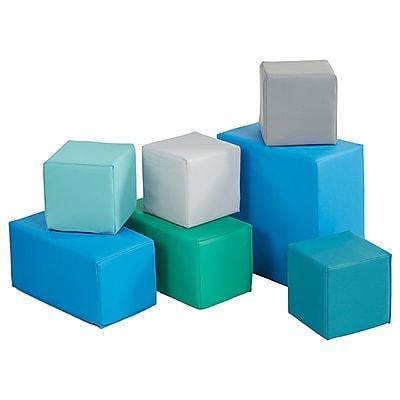 ECR4Kids SoftZone® 7-Piece Big Blocks, Contemporary (ELR-0832F-CT)