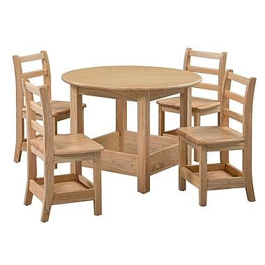 ECR4Kids Sit n' Stash Round Table and Four Chairs (ELR-22309)