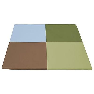 ECR4Kids SoftZone® Squares Activity Mat, Earthtone (ELR-12900-ET)