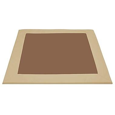 ECR4Kids SoftZone® Two-Tone Activity Mat, Chocolate/Sand (ELR-12907-CHSD)