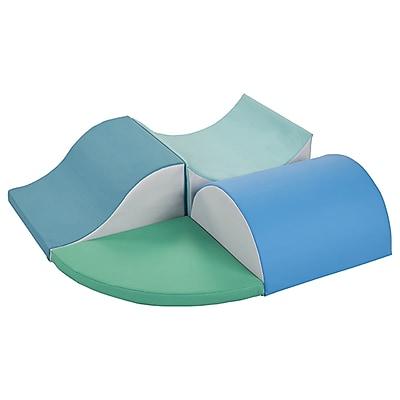 ECR4Kids SoftZone® Swoop & Slide Climber- Contemporary (ELR-12720F-CT)