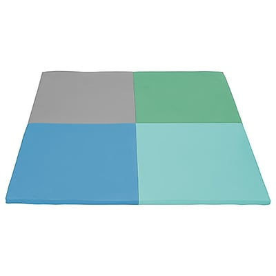 ECR4Kids SoftZone® Squares Activity Mat, Contemporary (ELR-12900-CT)