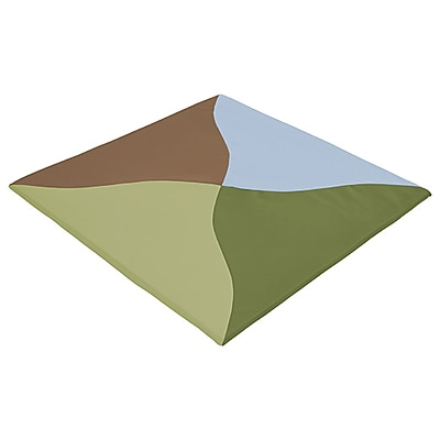 ECR4Kids SoftZone® Twisty Triangles Activity Mat, Earthtone (ELR-12906-ET)