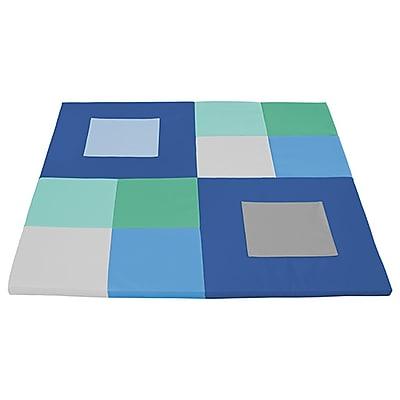 ECR4Kids SoftZone® Squares n' Squares Activity Mat, Contemporary (ELR-12901-CT)