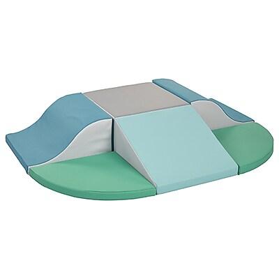 ECR4Kids SoftZone® Super Climb & Slide, Earthtone (ELR-12721F-ET)