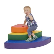 ECR4Kids SoftZone® Rainbow Corner Climber (ELR-12710)