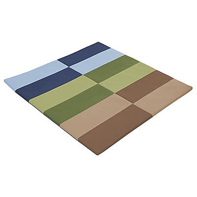 ECR4Kids SoftZone® Tile Time Activity Mat, Earthtone (ELR-12903-ET)