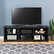 Prepac Sonoma 72 inch TV Stand, Black (BCTG-0001-1)