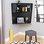 Prepac Floating Corner Desk, Black (BEHW-0202-1)