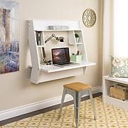 Prepac Studio Floating Desk, White (WEHW-0900-1)