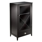 Winsome Bordeaux Modular Wine Cabinet X-Panel, Dark Wood Finish (92442)