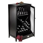 Winsome Bordeaux Modular Wine Cabinet X-Panel, Dark Wood Finish (92442)