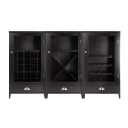 Winsome Bordeaux 3-Pc Modular Wine Cabinet Set, Dark Wood Finish (92359)