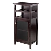 Winsome Alta Wine Cabinet, Dark Wood (92119)