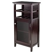 Winsome Alta Wine Cabinet, Dark Wood (92119)