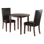 Winsome Clayton 3-Pc Drop Leaf Table with 2 Chairs, Walnut (94373)