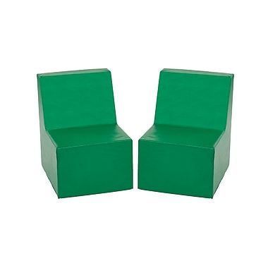 ECR4Kids SoftZone® Toddler Chair, 2-Pack, Green (ELR-12707-GN)