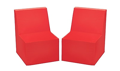 ECR4Kids SoftZone® Toddler Chair, 2-Pack, Red (ELR-12707-RD)