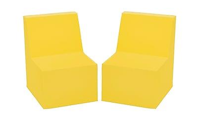 ECR4Kids SoftZone® Toddler Chair, 2-Pack, Yellow (ELR-12707-YE)