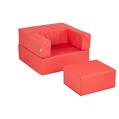 ECR4Kids SoftZone® Flip-Flop Chair, Red (ELR-12711-RD)