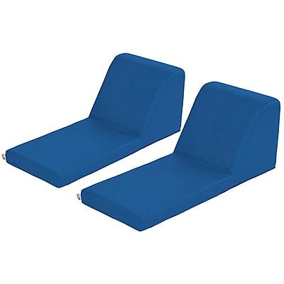 ECR4Kids SoftZone® Chaise Lounge, 2-Piece, Blue (ELR-12734-BL)