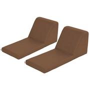ECR4Kids SoftZone® Chaise Lounge, 2-Piece, Chocolate (ELR-12734-CH)
