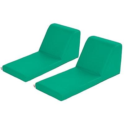 ECR4Kids SoftZone® Chaise Lounge, 2-Piece, Emerald (ELR-12734-EM)