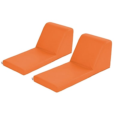 ECR4Kids SoftZone® Chaise Lounge, 2-Piece, Orange (ELR-12734-OR)