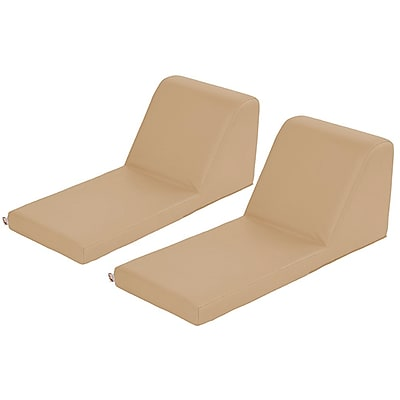ECR4Kids SoftZone® Chaise Lounge, 2-Piece, Sand (ELR-12734-SD)