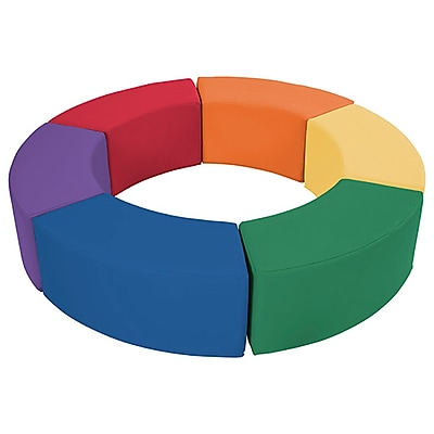 ECR4Kids SoftZone® Ring Around Seating, Primary (ELR-12738-AS)