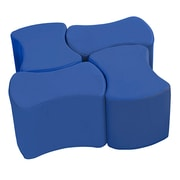ECR4Kids SoftZone® Butterfly Stool Set, 4-Pack, Blue (ELR-12837-BL)