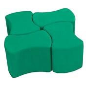 ECR4Kids SoftZone® Butterfly Stool Set, 4-Pack, Emerald (ELR-12837-EM)