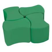 ECR4Kids SoftZone® Butterfly Stool Set, 4-Pack, Green (ELR-12837-GN)
