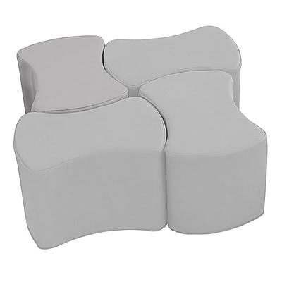 ECR4Kids SoftZone® Butterfly Stool Set, 4-Pack, Light Grey (ELR-12837-LG)