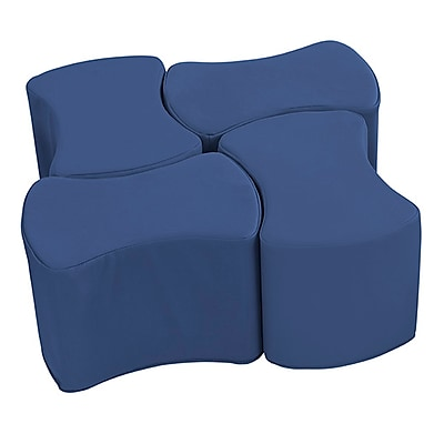 ECR4Kids SoftZone® Butterfly Stool Set, 4-Pack, Navy (ELR-12837-NV)