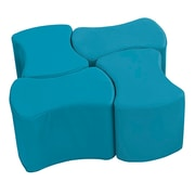 ECR4Kids SoftZone® Butterfly Stool Set, 4-Pack, Sea Foam (ELR-12837-SF)