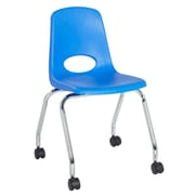 "ECR4Kids 18"" Mobile Chair-Blue/2 Pack (ELR-26118-BL)"