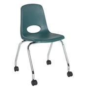 """ECR4Kids 18"""" Mobile Chair-Hunter Green/2 Pack (ELR-26118-HG)"""