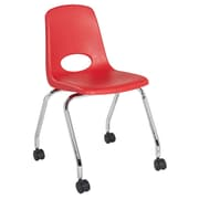 "ECR4Kids 18"" Mobile Chair-Red/2 Pack (ELR-26118-RD)"