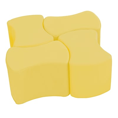 ECR4Kids SoftZone® Butterfly Stool Set, 4-Pack, Yellow (ELR-12837-YE)