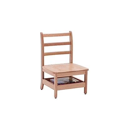 ECR4Kids North American Oak Ladderback Chair, Teacher/2 Pack (ELR-15343)