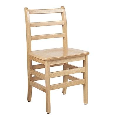 "ECR4Kids 18"" North American Oak Ladderback Chair/2 Pack (ELR-15338)"