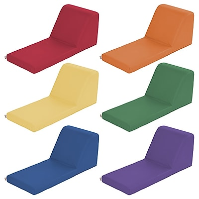 ECR4Kids SoftZone® Chaise Lounge, 6-Piece, Primary (ELR-12736-AS)